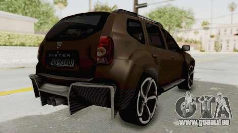 Dacia Duster 2010 Tuning für GTA San Andreas zurück linke Ansicht