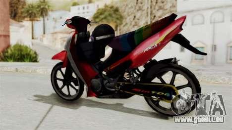 Suzuki RGX 120 pour GTA San Andreas sur la vue arrière gauche