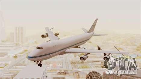Boeing 747-123 NASA pour GTA San Andreas sur la vue arrière gauche