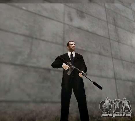 Le silencieux sur l'arme pour GTA 4 quatrième écran
