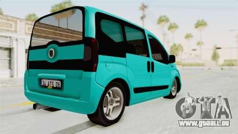 Fiat Fiorino v2 pour GTA San Andreas laissé vue