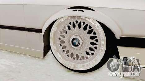 BMW 316i E30 pour GTA San Andreas vue arrière