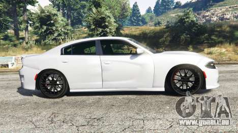GTA 5 Dodge Charger SRT Hellcat 2015 v1.3 vue latérale gauche