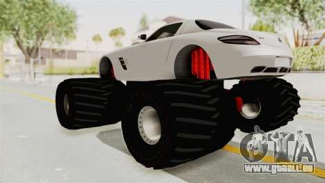 Mercedes-Benz SLS AMG 2010 Monster Truck für GTA San Andreas linke Ansicht