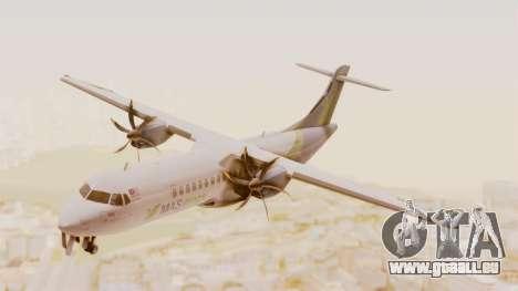 ATR 72-500 MASwings für GTA San Andreas zurück linke Ansicht