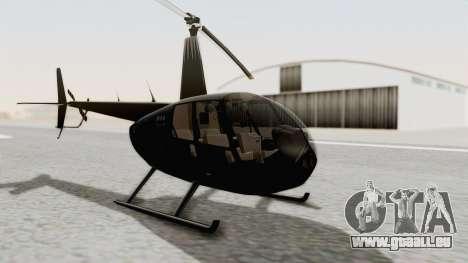 Helicopter de la Policia Nacional del Paraguay pour GTA San Andreas vue de droite