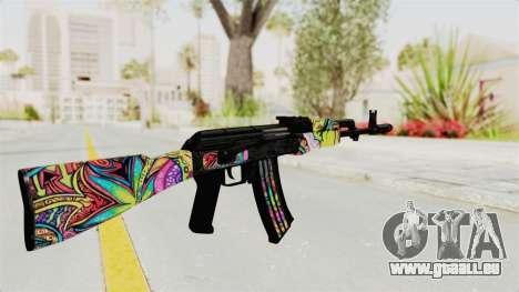 AK-47 Cannabis Camo für GTA San Andreas zweiten Screenshot