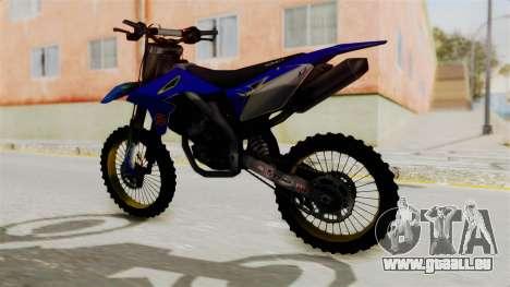 Suzuki RMZ 450 Gendarmerie v0.1 pour GTA San Andreas