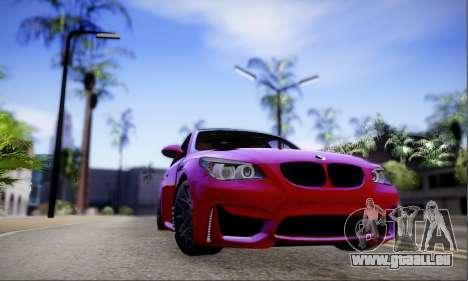 BMW M5 E60 Huracan für GTA San Andreas linke Ansicht