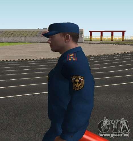 Le Colonel de l'EMERCOM de Russie pour GTA San Andreas troisième écran
