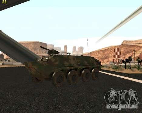 BTR 60 PA pour GTA San Andreas vue intérieure