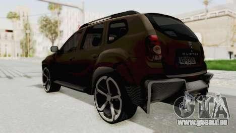 Dacia Duster 2010 Tuning pour GTA San Andreas laissé vue