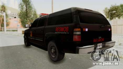 Chevrolet Suburban Indonesian Police RESMOB Unit für GTA San Andreas linke Ansicht