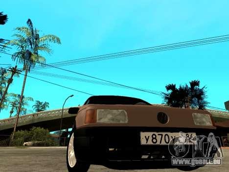Volkswagen Passat B3 Variant pour GTA San Andreas sur la vue arrière gauche