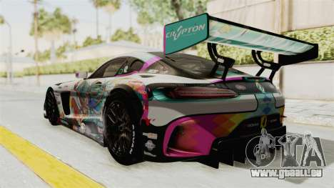 Mercedes-Benz SLS AMG GT3 2016 Goodsmile Racing für GTA San Andreas zurück linke Ansicht