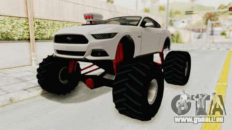 Ford Mustang GT 2015 Monster Truck pour GTA San Andreas vue de droite