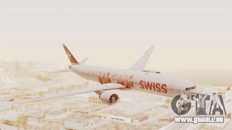 Boeing 777-300ER Faces of SWISS Livery für GTA San Andreas zurück linke Ansicht