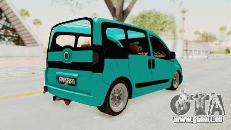 Fiat Fiorino Hellaflush v1 pour GTA San Andreas sur la vue arrière gauche