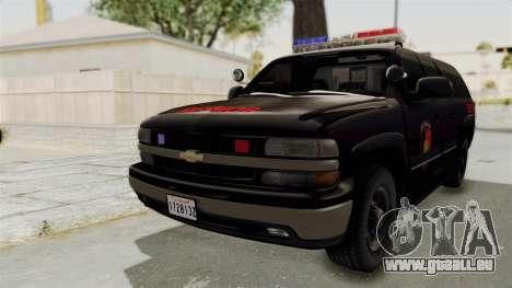 Chevrolet Suburban Indonesian Police RESMOB Unit pour GTA San Andreas sur la vue arrière gauche