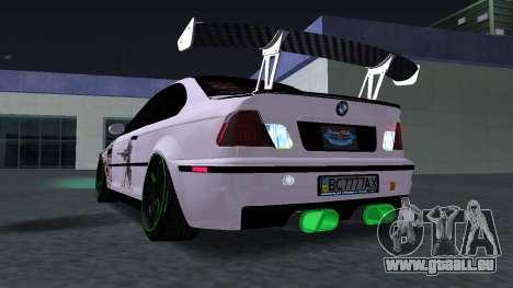 BMW M3 E46 JDM pour GTA San Andreas vue de droite