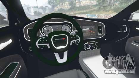 GTA 5 Dodge Charger SRT Hellcat 2015 v1.3 arrière droit vue de côté