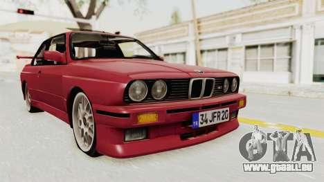 BMW M3 E30 1988 pour GTA San Andreas