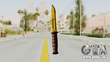 Knife Gold für GTA San Andreas zweiten Screenshot