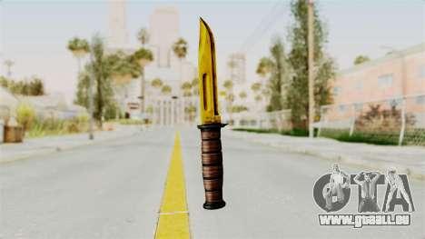 Knife Gold pour GTA San Andreas deuxième écran