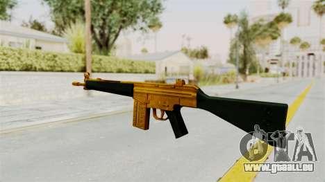 G3A3 Gold für GTA San Andreas zweiten Screenshot