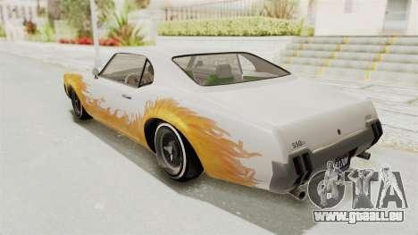 GTA 5 Declasse Sabre GT2 IVF für GTA San Andreas obere Ansicht
