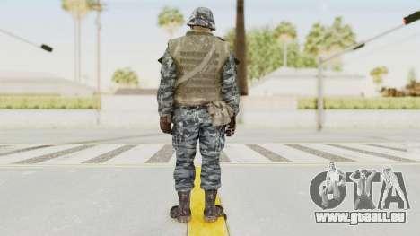 COD BO Russian Spetznas Flak MP v2 pour GTA San Andreas troisième écran
