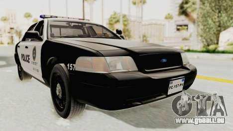 Ford Crown Victoria SFPD pour GTA San Andreas vue de droite