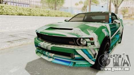 GTA 5 Vapid Dominator v2 IVF für GTA San Andreas Räder
