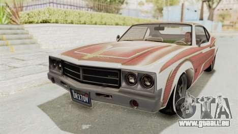 GTA 5 Declasse Sabre GT2 IVF für GTA San Andreas Unteransicht