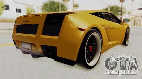 Lamborghini Gallardo 2005 pour GTA San Andreas vue de droite