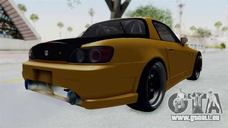 Honda S2000 S2K-AP1 pour GTA San Andreas sur la vue arrière gauche