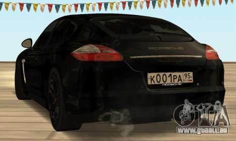 Porsche Panamera Turbo pour GTA San Andreas sur la vue arrière gauche