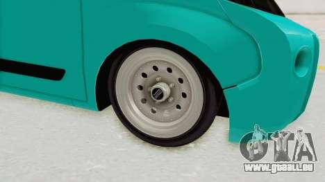 Fiat Fiorino Hellaflush v1 für GTA San Andreas Rückansicht