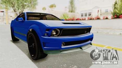 GTA 5 Vapid Dominator v2 IVF für GTA San Andreas rechten Ansicht