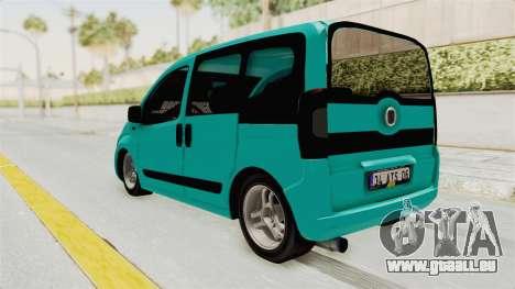 Fiat Fiorino v2 pour GTA San Andreas sur la vue arrière gauche