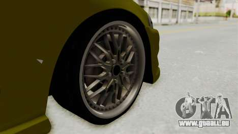 Honda Civic Fast and Furious für GTA San Andreas Rückansicht