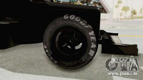 Ford 32 F1 für GTA San Andreas Rückansicht