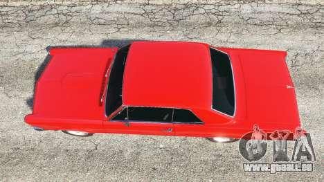 GTA 5 Pontiac Tempest Le Mans GTO 1965 v1.1 vue arrière