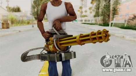 Minigun Gold pour GTA San Andreas troisième écran
