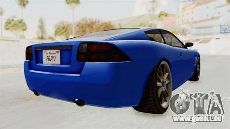 GTA 5 Ocelot F620 IVF für GTA San Andreas rechten Ansicht