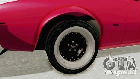 Chevrolet Camaro SS 1968 für GTA San Andreas Rückansicht