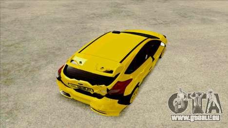 Ford Focus Taxi für GTA San Andreas Rückansicht