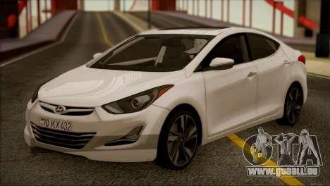 Hyundai ELANTRA 2015 STOCK pour GTA San Andreas laissé vue