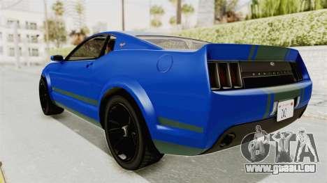 GTA 5 Vapid Dominator v2 IVF für GTA San Andreas linke Ansicht