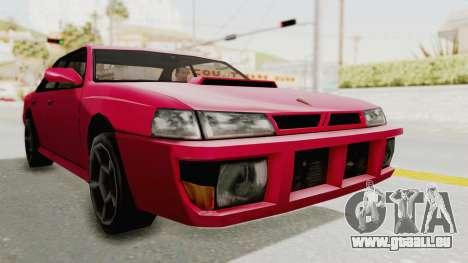 Kartin Sultan RS pour GTA San Andreas sur la vue arrière gauche